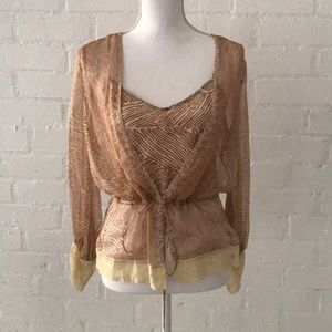 NWOT Tracy Reese silk blouse with built in cami